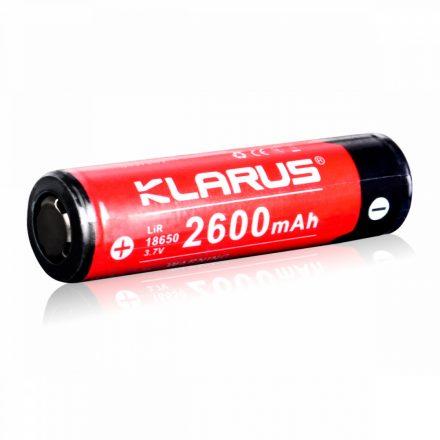 Klarus 18650 3,7V 2600 mAh védett Li-Ion akkumulátor