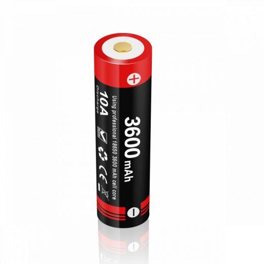 Klarus 18650 (18GT-36UR) 3,6V 3600 mAh védett Li-Ion USB-s akkumulátor