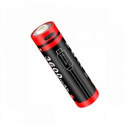 Klarus 18650 (18GT-E36UR) 3,6V 3600 mAh védett, USB-s Li-Ion akkumulátor