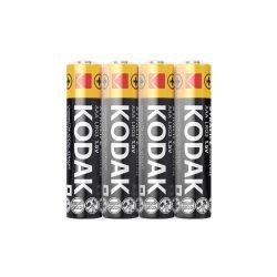 Kodak Xtralife Alkáli Mikro AAA LR03 elem, 4 db fóliában