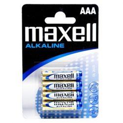 Maxell Alkáli Mikro AAA LR03 elem x 4 db