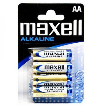 Maxell Alkáli Ceruza AA LR6 elem x 4 db