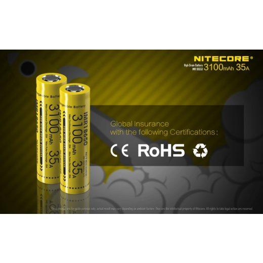 Nitecore 18650 IMR Akkumulátor 3100 mAh 35A