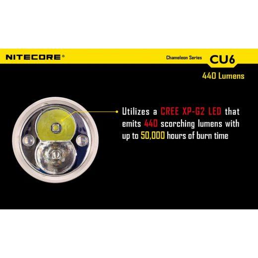 Nitecore CU6 Chameleon Elemlámpa - 440 lm