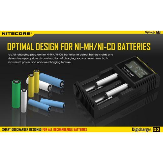 Nitecore D2 Akkumulátor Töltő