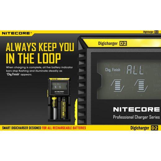 Nitecore D2 Li-Ion / Ni-MH Akkumulátor Töltő