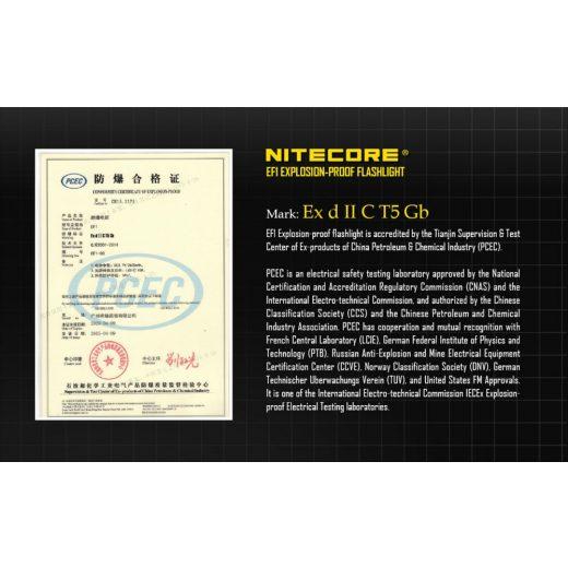 Nitecore EF1 Robbanásbiztos Elemlámpa - 830 lm