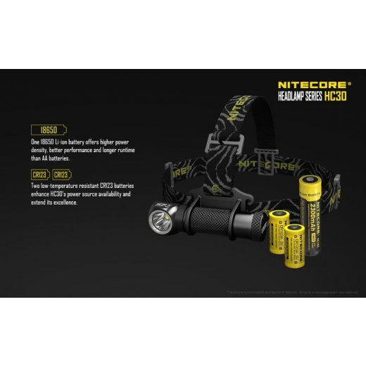 Nitecore HC30 Fejlámpa - 1000 lm