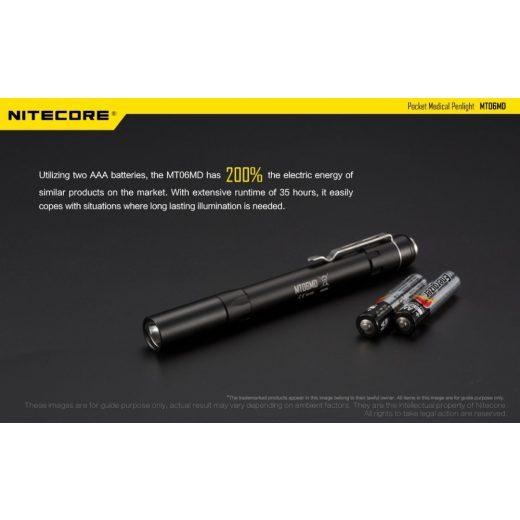 Nitecore MT06MD Toll Lámpa - 180 lm