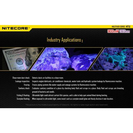 Nitecore MT1U UV Elemlámpa