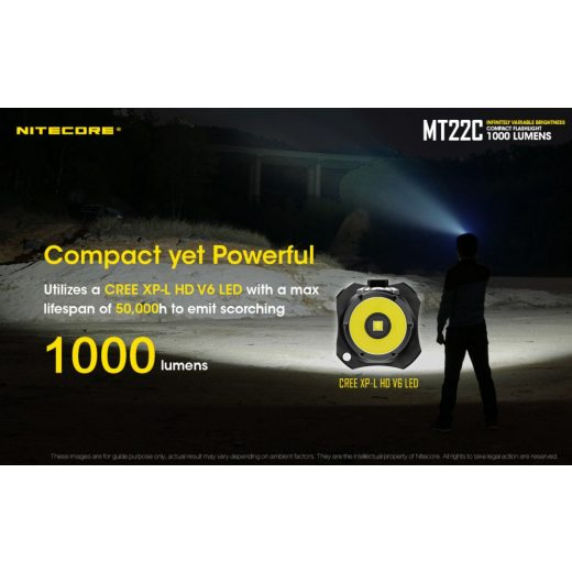 Nitecore MT22C Elemlámpa - 1000 lm