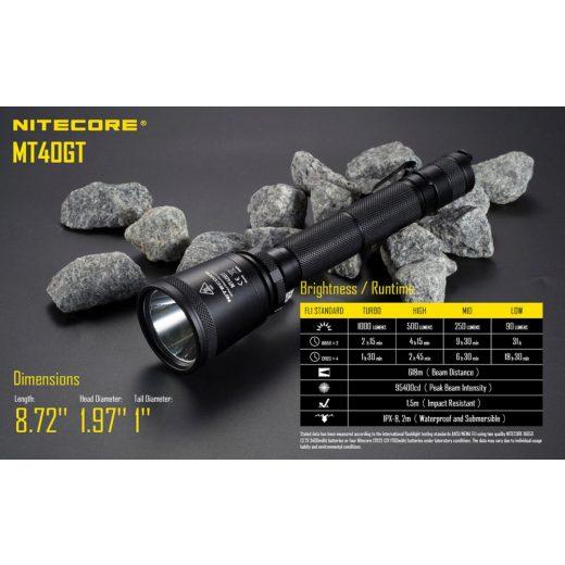 Nitecore MT40GT Elemlámpa - 1000 lm