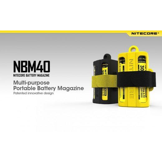 Nitecore NBM40 Akkumulátor Tartó - Sárga