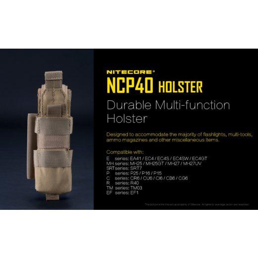 Nitecore NCP40 Hordtok Black