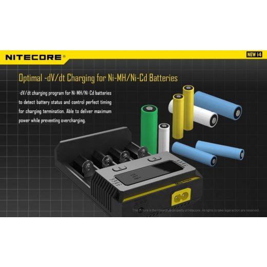 Nitecore NEW I4 Li-Ion / Ni-MH Akkumulátor Töltő
