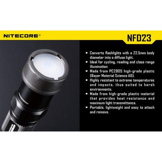 Nitecore NFD23 Fehér Szűrő