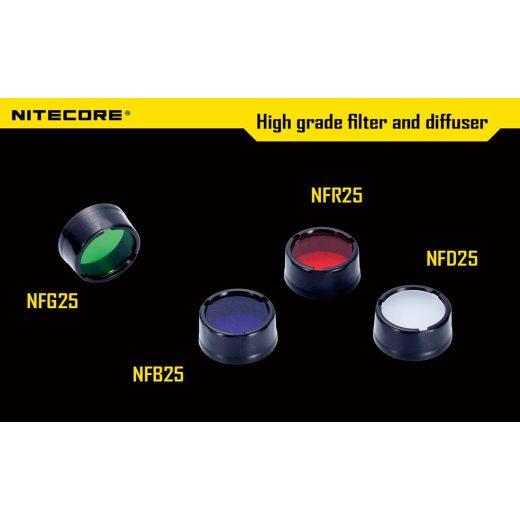 Nitecore NFG25 Zöld Szűrő