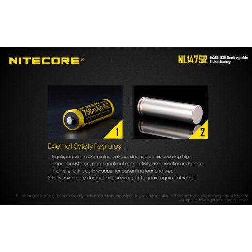 Nitecore 14500 3,6V 750 mAh USB-s akkumulátor