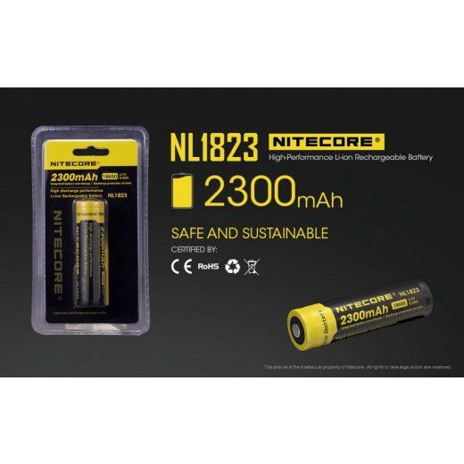 Nitecore 18650 3,7V 2300 mAh védett Li-Ion akkumulátor