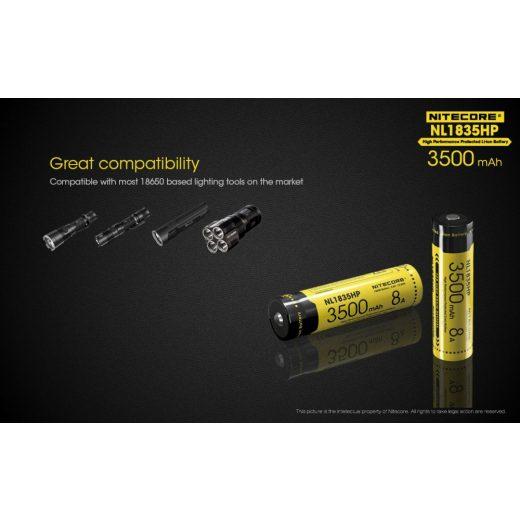 Nitecore 18650 3,6V 3500 mAh HP akkumulátor