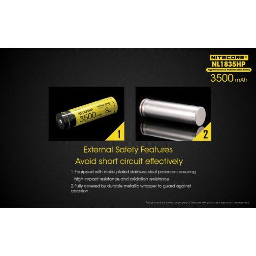 Nitecore 18650 3,6V 3500 mAh HP védett Li-Ion akkumulátor