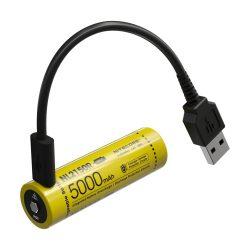Nitecore 21700 NL2150R 3,6V 5000 mAh védett USB-C Li-Ion akkumulátor