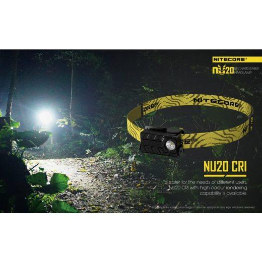 Nitecore NU20 Fejlámpa - Fekete - 360 lm - USB - Beépített Akku