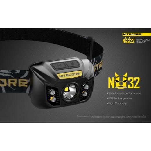 Nitecore NU32 Fejlámpa - 550 lm - USB - Beépített Akku