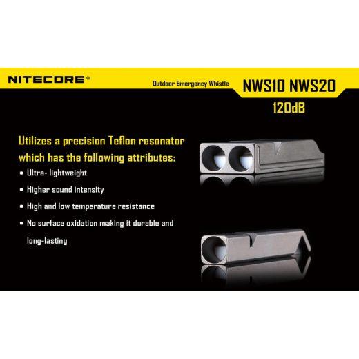 Nitecore NWS20 Segélykérő Síp