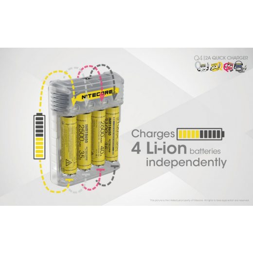 Nitecore Q4 Akkumulátor Töltő - Lemonade