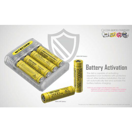 Nitecore Q4 Li-Ion Akkumulátor Töltő - Lemonade