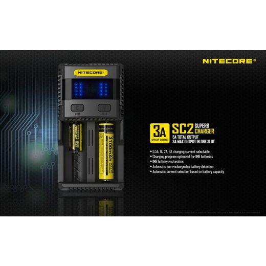 Nitecore SC2 Li-Ion / Ni-MH akkumulátor töltő