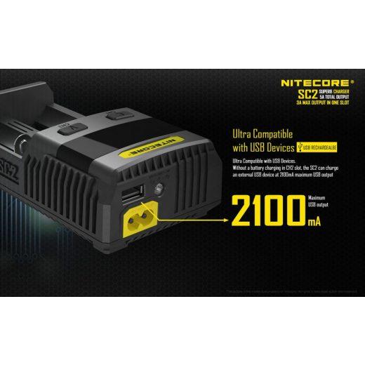 Nitecore SC2 akkumulátor töltő