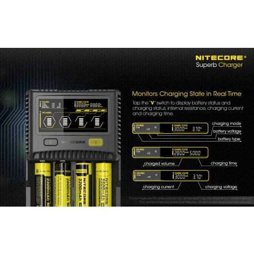 Nitecore SC4 Li-Ion / Ni-MH akkumulátor töltő