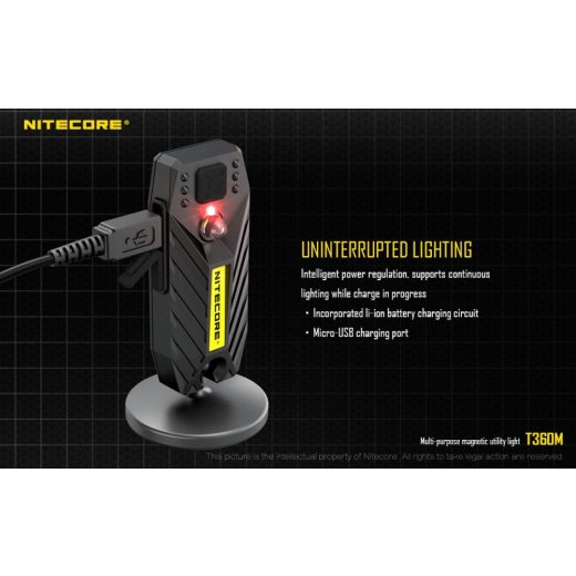 Nitecore T360M Újratölthető Elemlámpa - 45 lm - USB - Beépített Akku