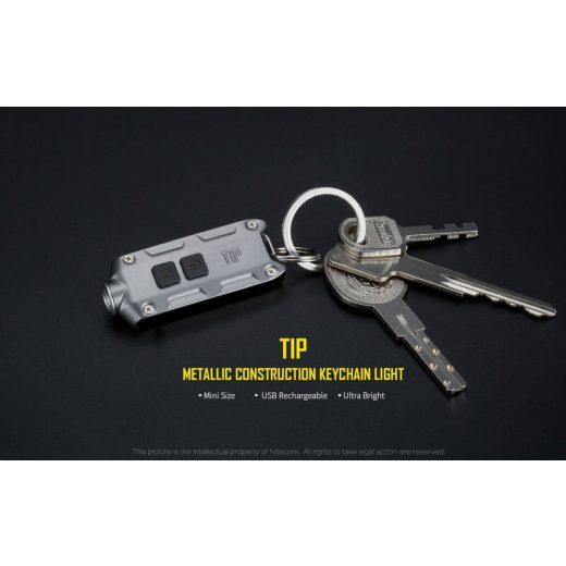 Nitecore TIP Elemlámpa - Szürke - 360 lm - USB - Beépített Akku