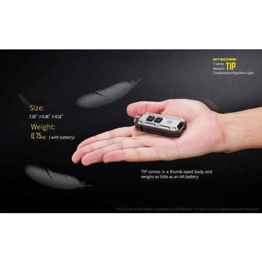 Nitecore TIP CRI Elemlámpa - Ezüst - 240 lm - USB - Beépített Akku