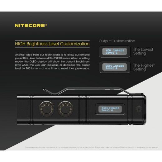 Nitecore TM10K Elemlámpa - 10000 lm - USB-C - Beépített Akkuval
