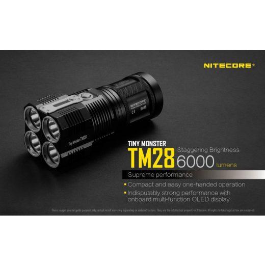 Nitecore TM28 Elemlámpa - 6000 lm - Újratölthető - OLED