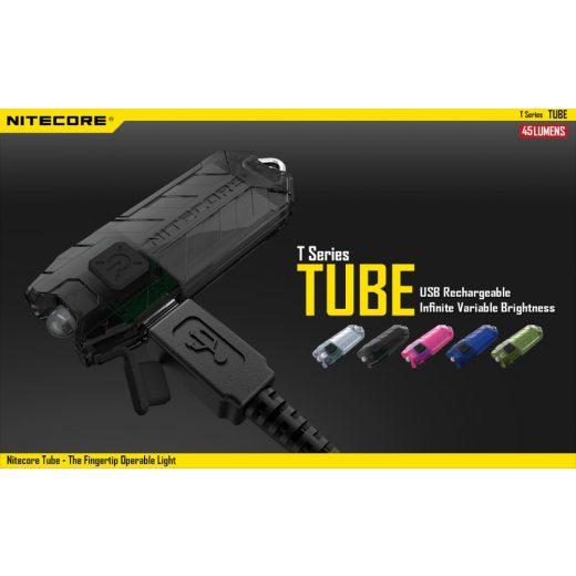 Nitecore Tube Elemlámpa - Zöld - 45 lm - USB - Beépített Akku