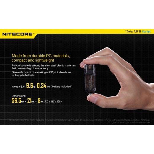 Nitecore Tube BL Elemlámpa - 500 mW - USB - Beépített Akku