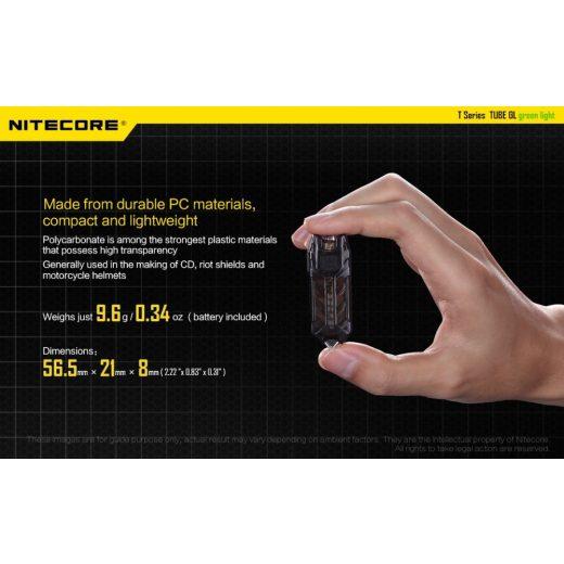 Nitecore Tube GL Elemlámpa - 25 lm - USB - Beépített Akku