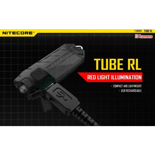 Nitecore Tube RL Elemlámpa - 13 lm - USB - Beépített Akku
