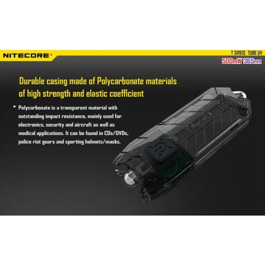 Nitecore Tube UV Elemlámpa - USB - Beépített Akku