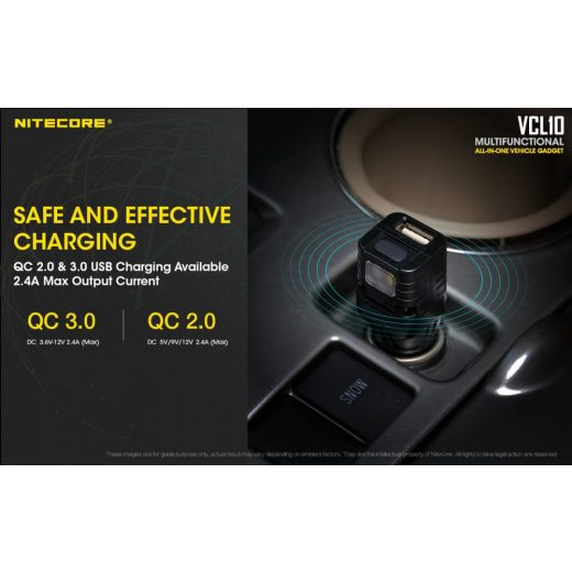 Nitecore VCL10 Multifunkciós Autós Kiegészítő