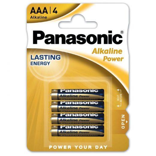 Panasonic Alkaline Power AAA LR03 Mikro Elem, 4 db