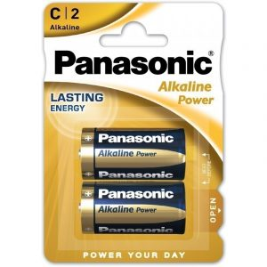 Panasonic Alkaline Power C LR14 Baby Elem, 2 db