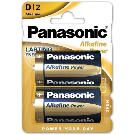 Panasonic Alkaline Power D LR20 Góliát Elem, 2 db