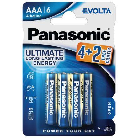 Panasonic Evolta AAA LR03 Mikro Elem x 6 db