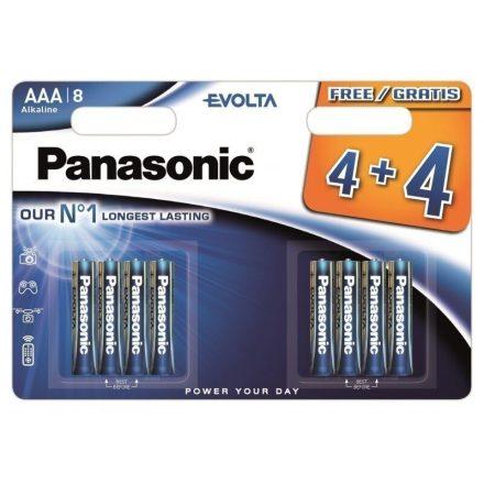 Panasonic Evolta AAA LR03 Mikro Elem x 8 db